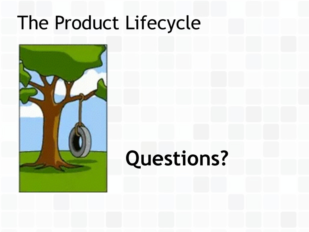 The Product Lifecycle Questions?