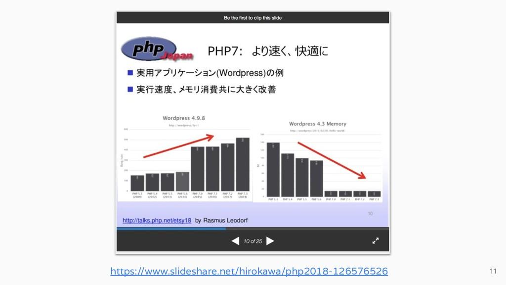 11 https://www.slideshare.net/hirokawa/php2018-...