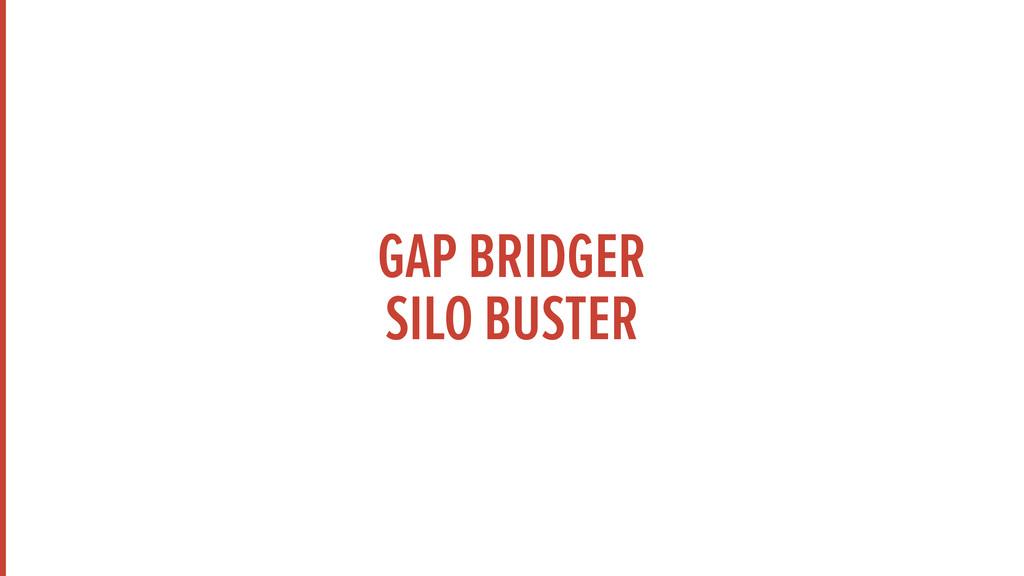 GAP BRIDGER SILO BUSTER