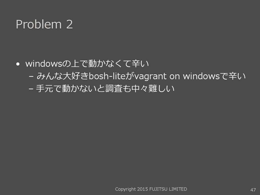 Problem 2 • windowsの上で動かなくて辛い – みんな大好きbosh-lite...