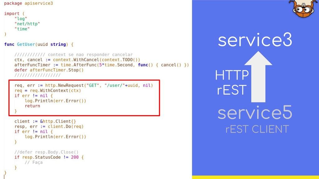 service3 service5 HTTP rEST rEST CLIENT
