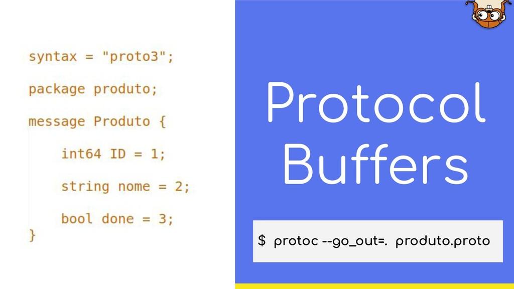 Protocol Buffers $ protoc --go_out=. produto.pr...