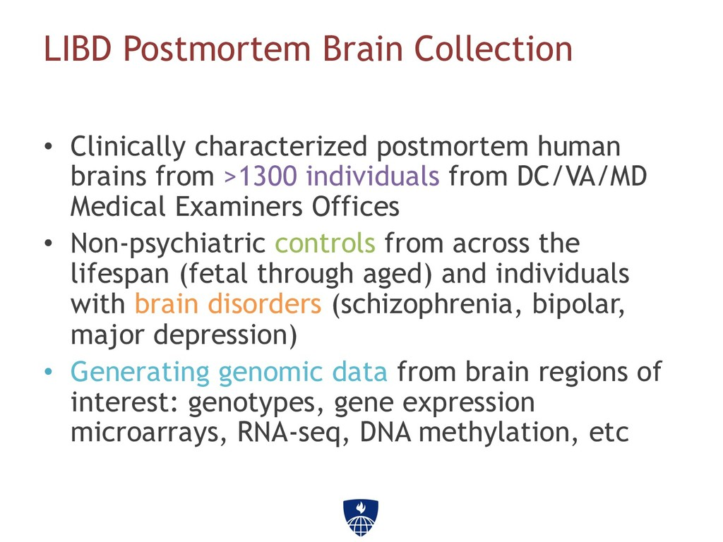 LIBD Postmortem Brain Collection • Clinically ...
