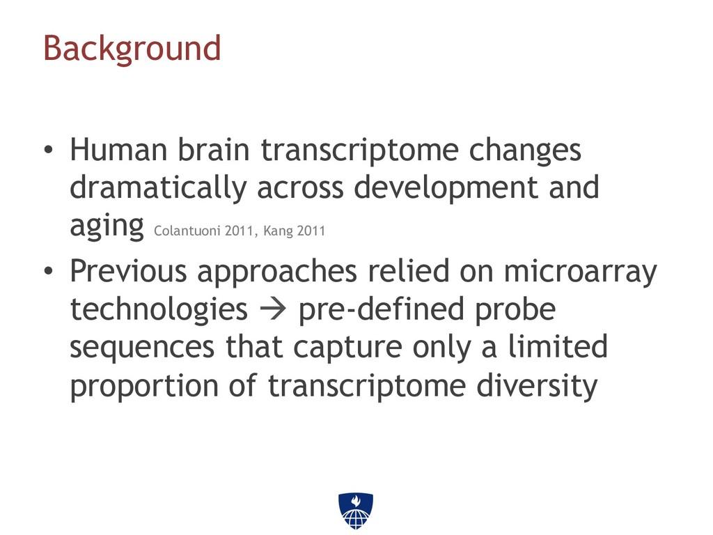 • Human brain transcriptome changes dramatical...