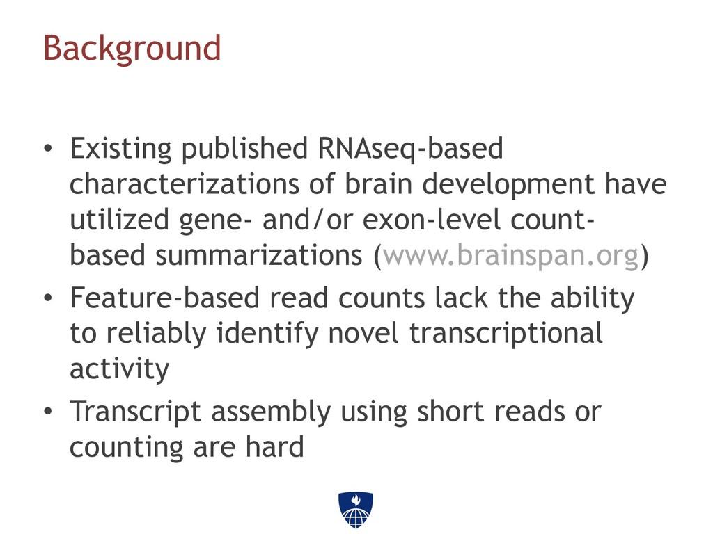 Background • Existing published RNAseq-based c...