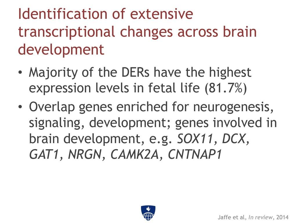 Identification of extensive transcriptional cha...