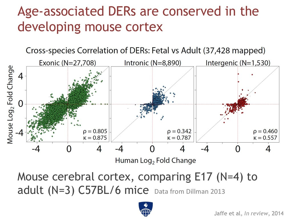 Age-associated DERs are conserved in the develo...