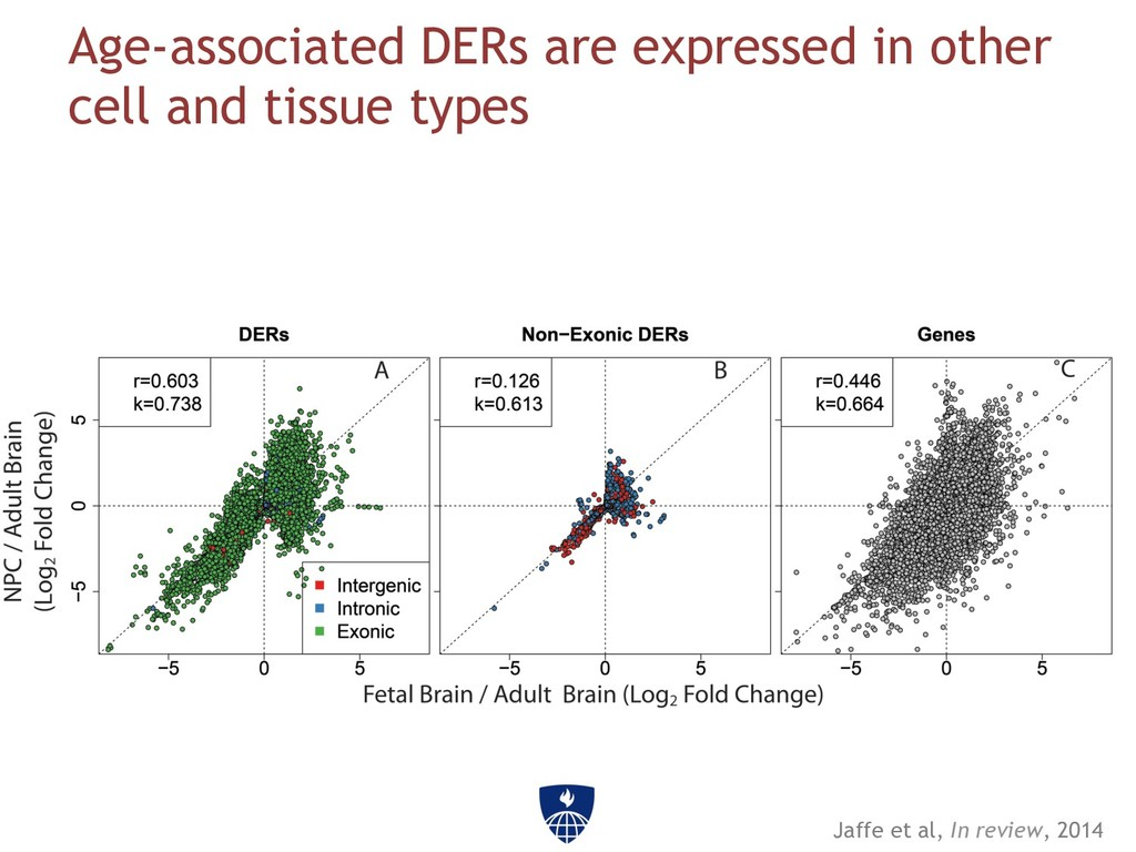 Age-associated DERs are expressed in other cell...