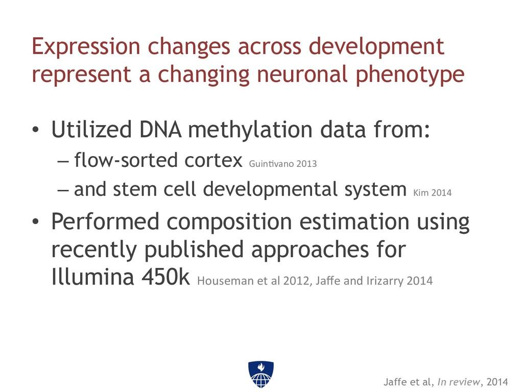 Expression changes across development represent...