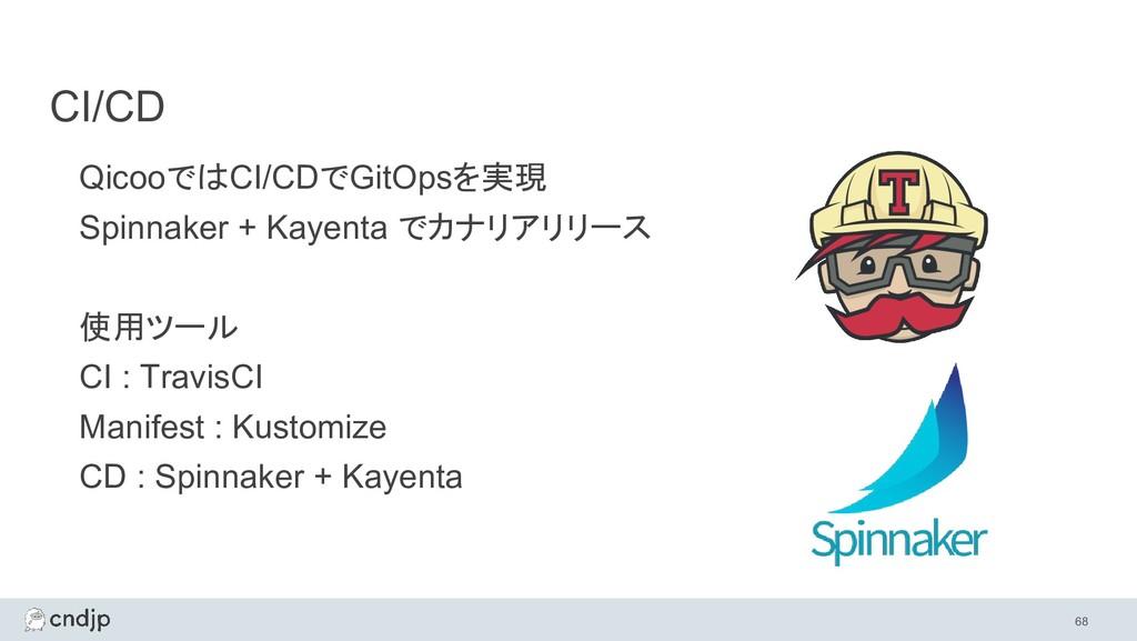 CI/CD QicooではCI/CDでGitOpsを実現 Spinnaker + Kayent...