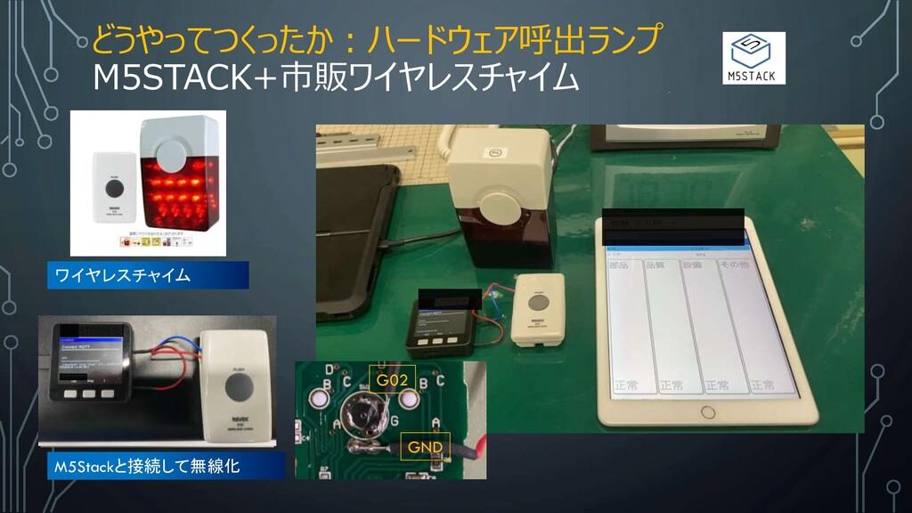 どうやってつくったか:ハードウェア呼出ランプ M5STACK+市販ワイヤレスチャイム M5St...