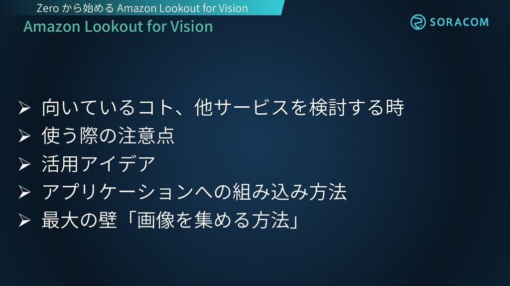 Amazon Lookout for Vision ➢ 向いているコト、他サービスを検討する時...