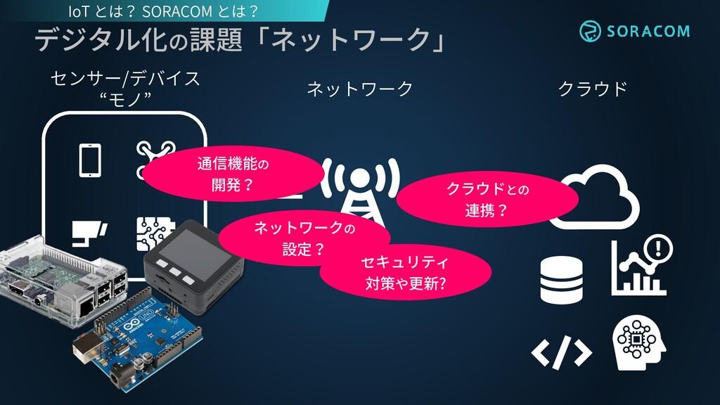 """クラウド ネットワーク センサー/デバイス """"モノ"""" デジタル化の課題「ネットワーク」 セキュ..."""