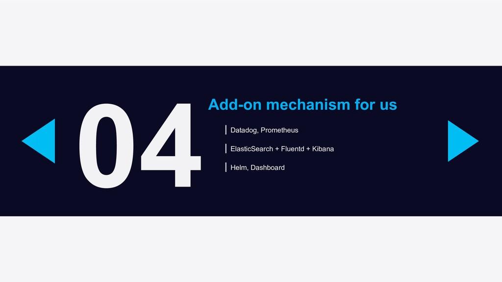 04 Add-on mechanism for us Datadog, Prometheus ...