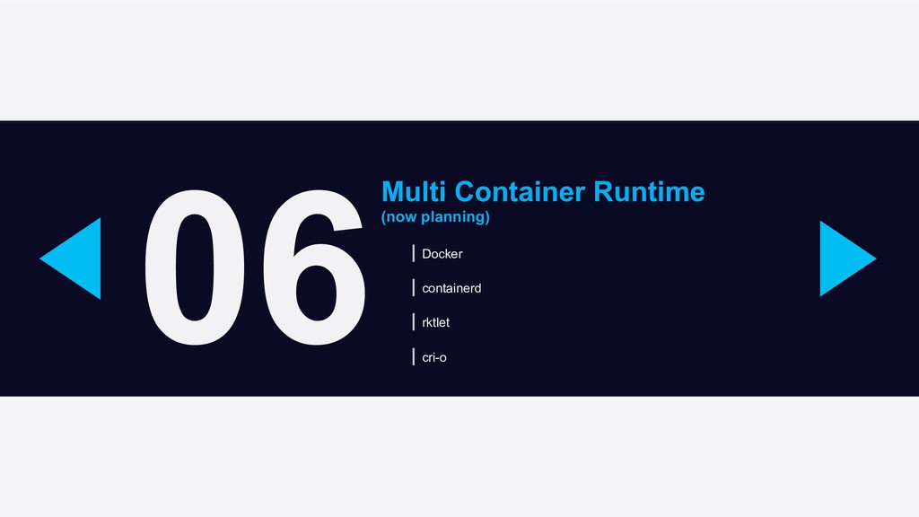 06 Multi Container Runtime (now planning) Docke...