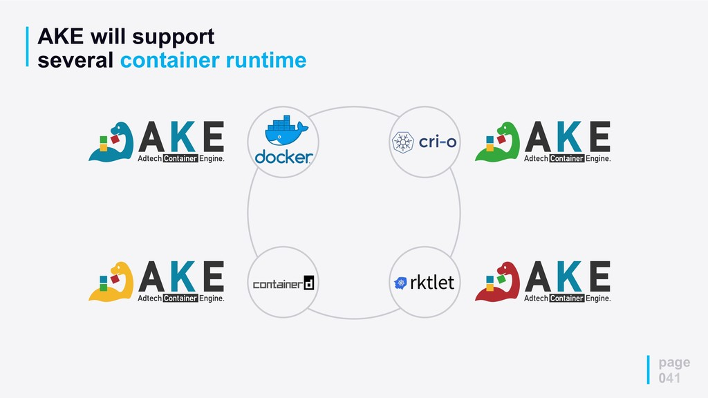 AKE will support several container runtime page...