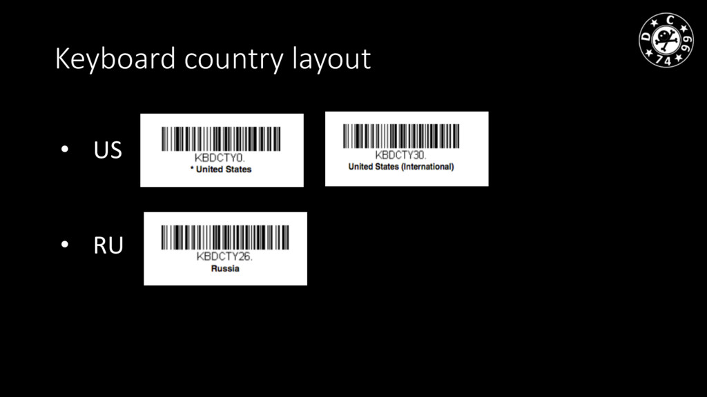 Keyboard country layout • US • RU