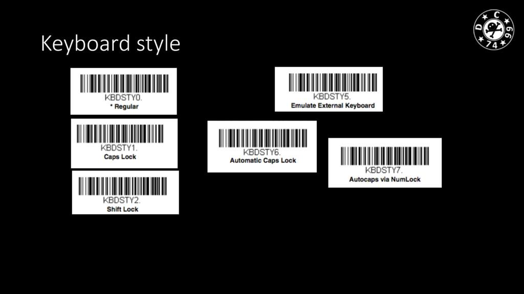 Keyboard style