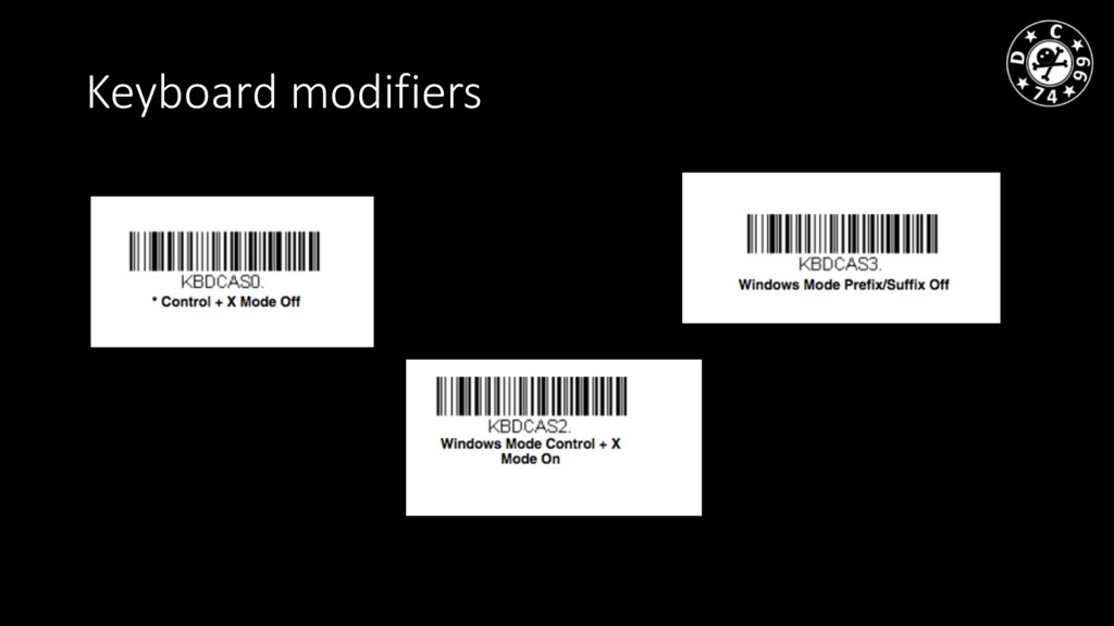 Keyboard modifiers