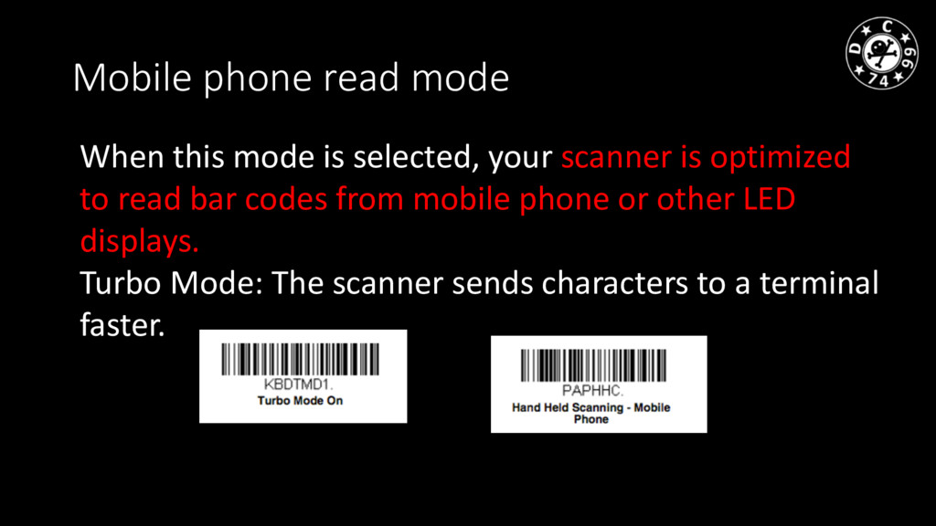 Mobile phone read mode When this mode is select...