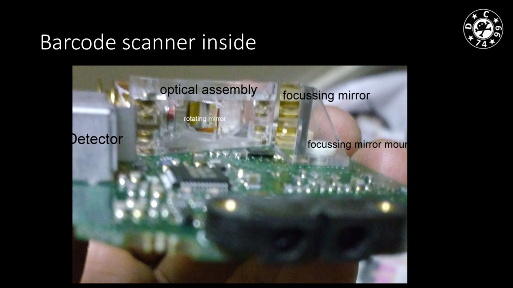 Barcode scanner inside