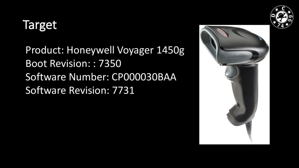 Target Product: Honeywell Voyager 1450g Boot Re...