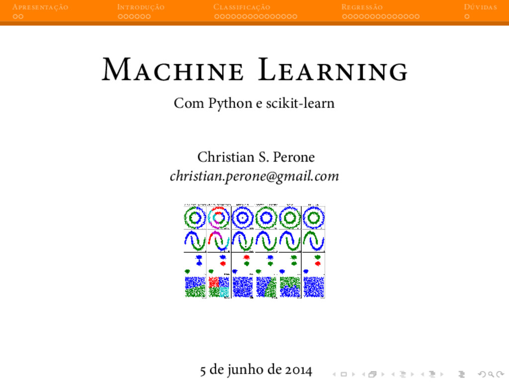 A I C R D M L Com Python e scikit-learn Christi...