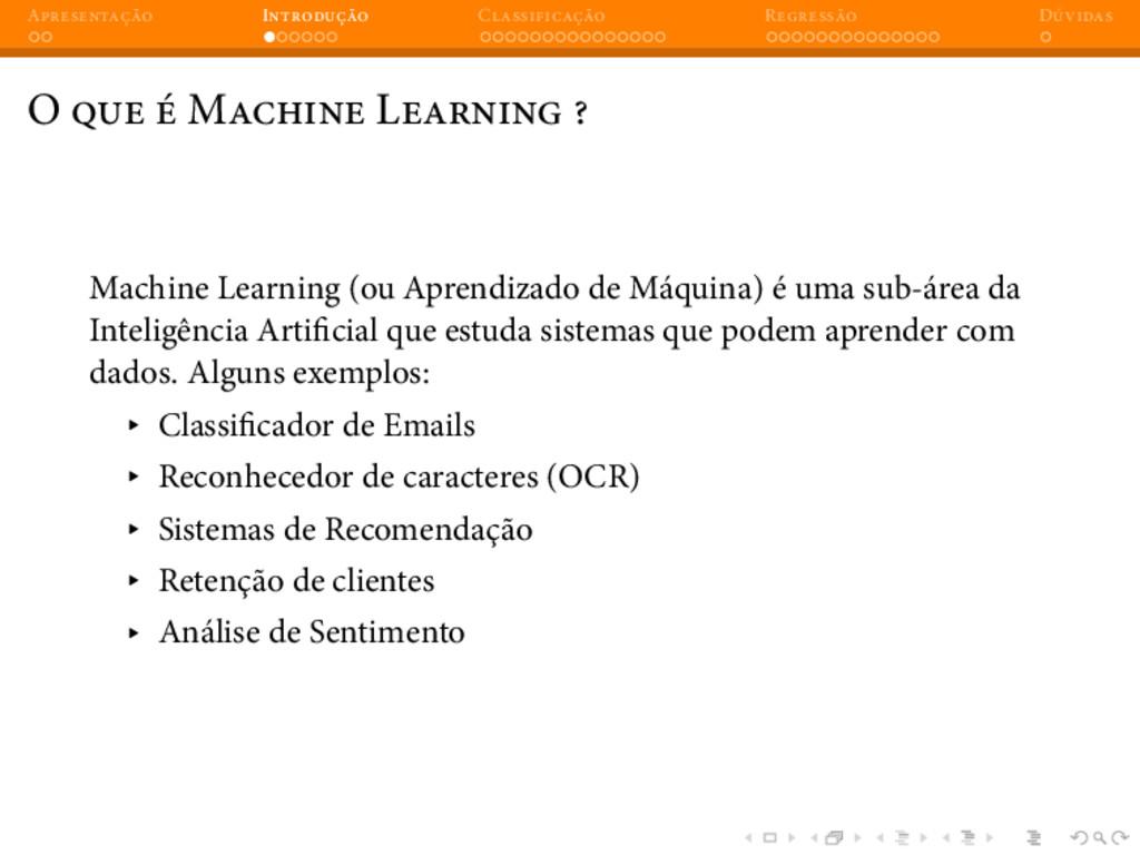 A I C R D O M L Machine Learning (ou Aprendizad...