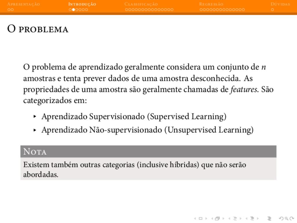 A I C R D O O problema de aprendizado geralment...