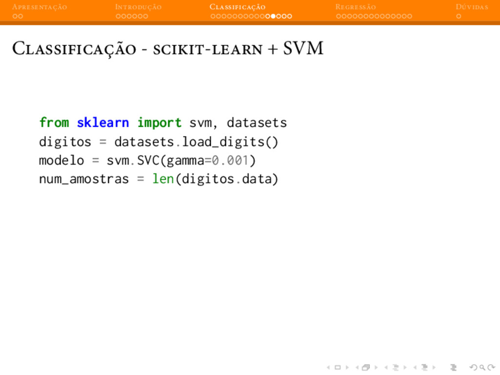 A I C R D C - - + SVM from sklearn import svm, ...