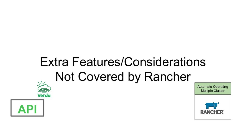Extra Features/Considerations Not Covered by Ra...