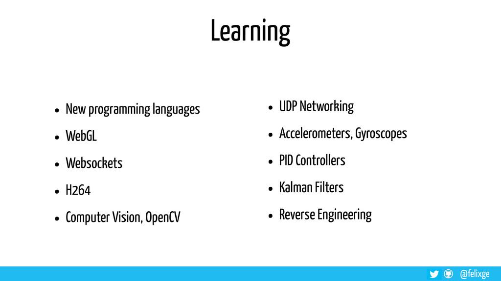 @felixge Learning • New programming languages •...