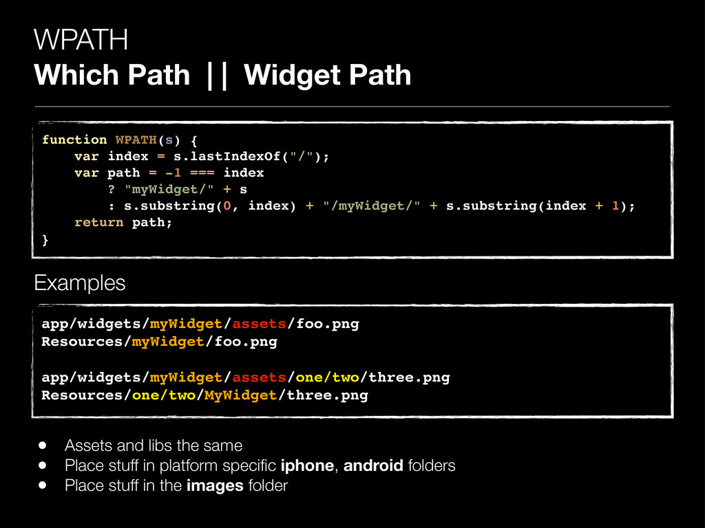 WPATH Which Path | | Widget Path function WPATH...
