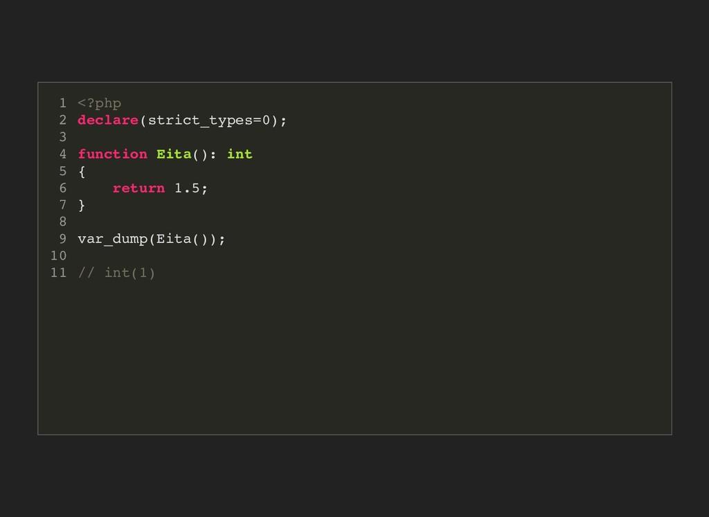 <?php declare(strict_types=0); function Eita():...