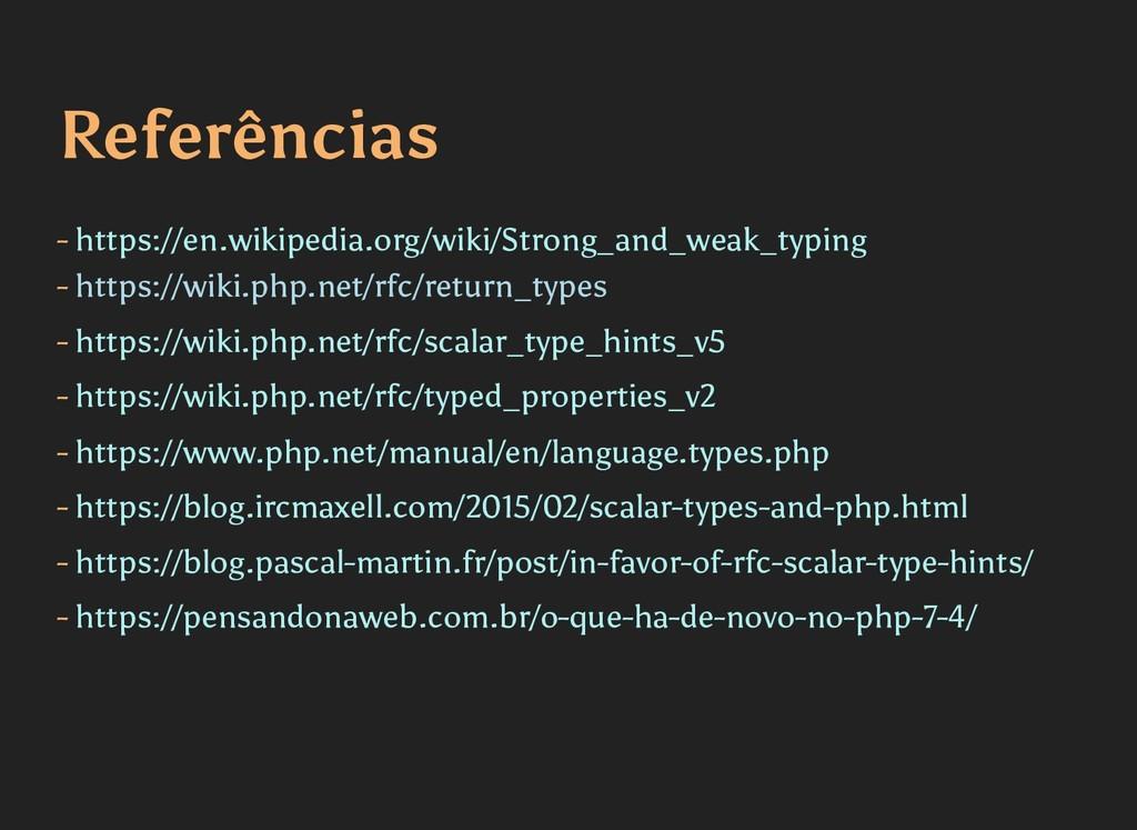 Referências Referências - https://en.wikipedia....