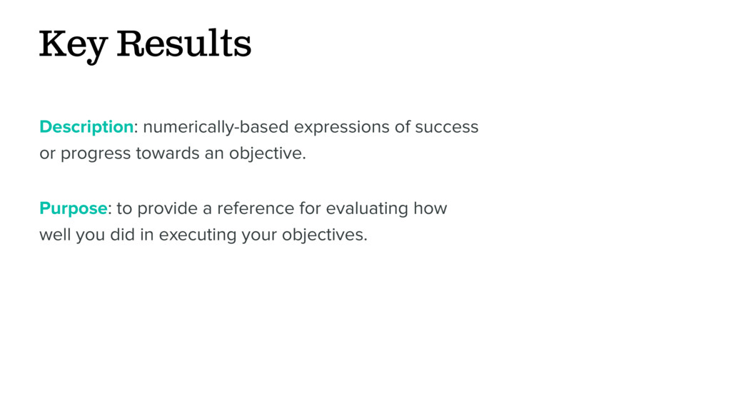 Key Results Description: numerically-based expr...