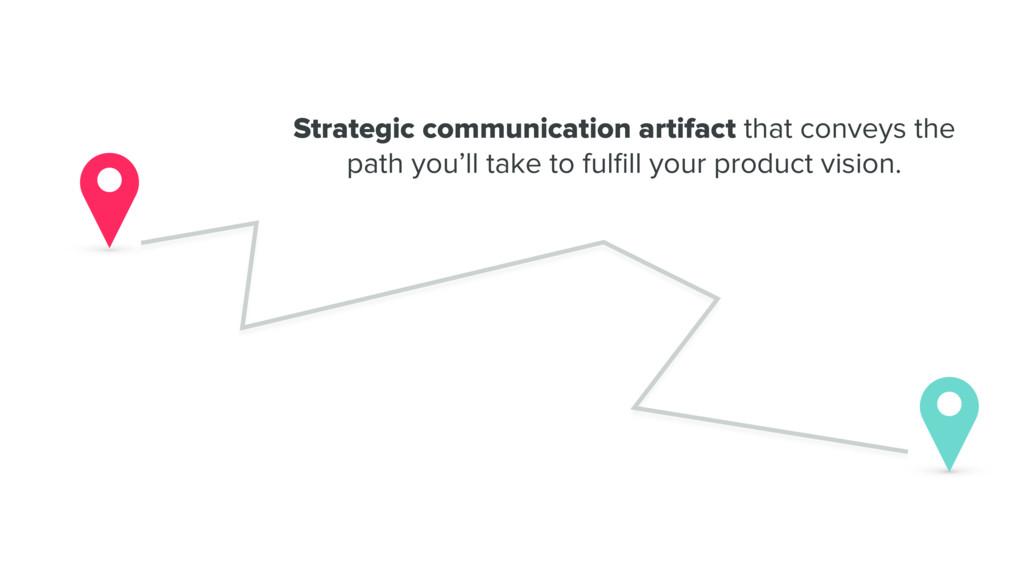Strategic communication artifact that conveys t...