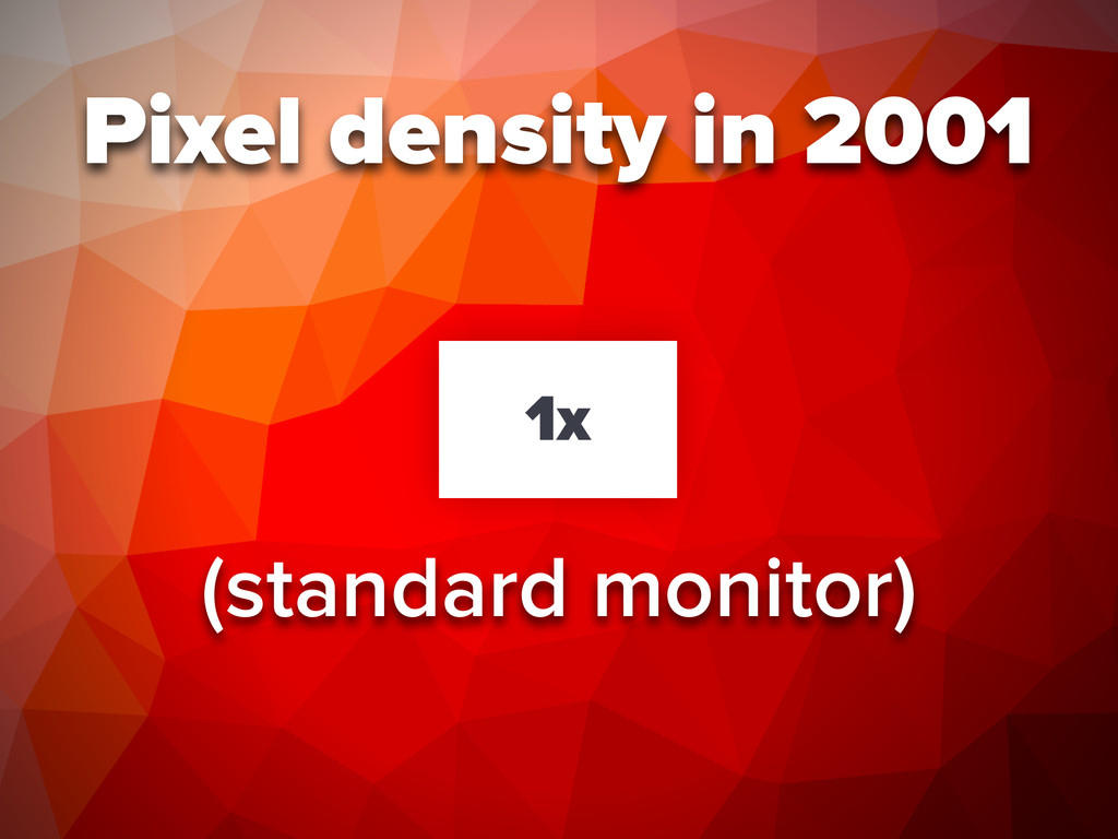 Pixel density in 2001 1x (standard monitor)