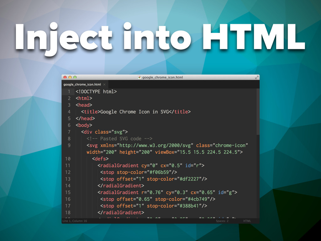 Inject into HTML