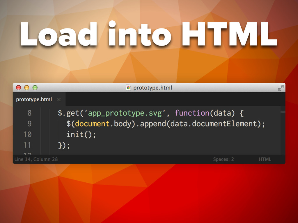 Load into HTML