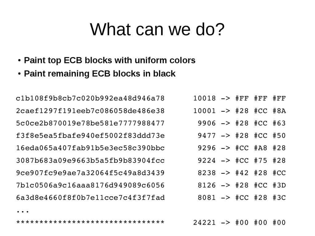 What can we do? ● Paint top ECB blocks with uni...