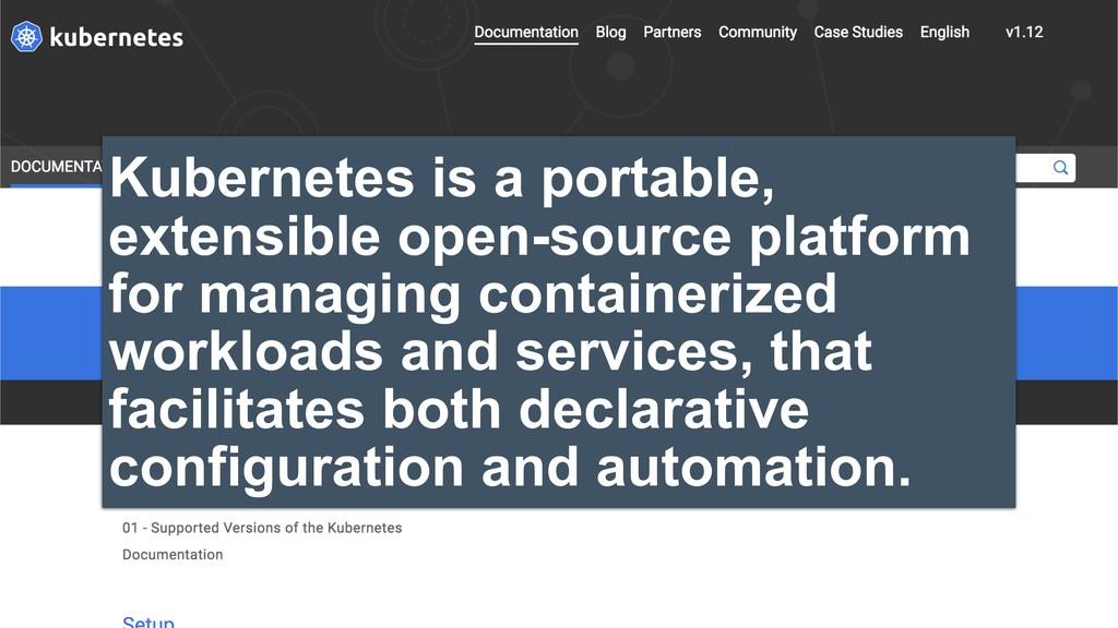 Kubernetes is a portable, extensible open-sourc...