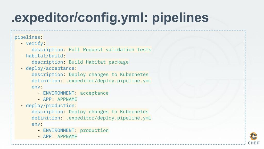 pipelines: - verify: description: Pull Request ...