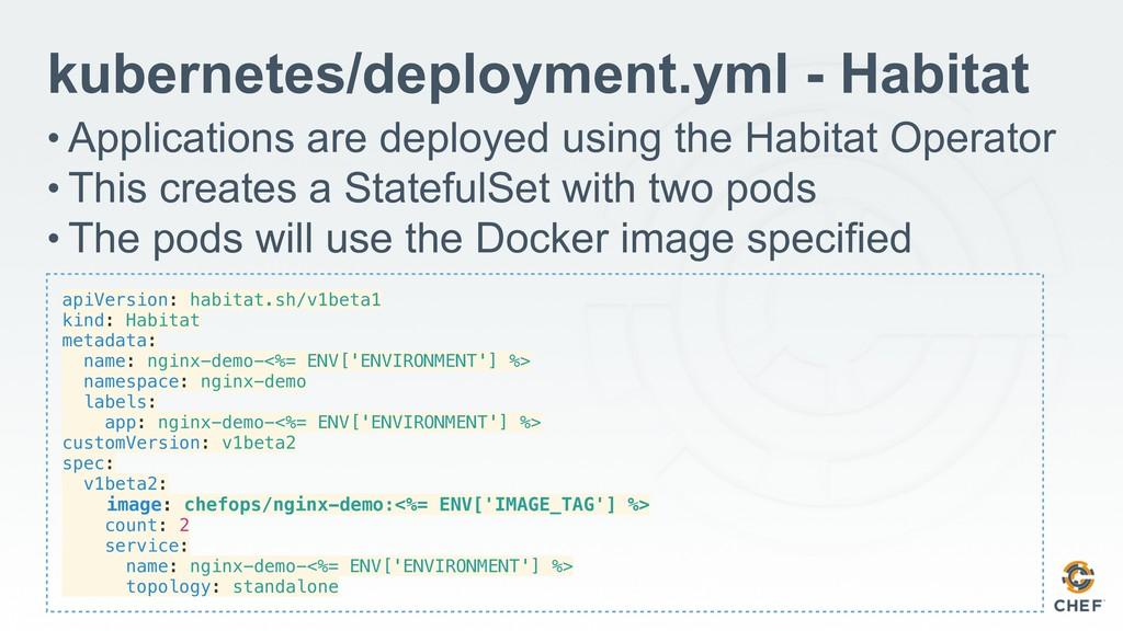 apiVersion: habitat.sh/v1beta1 kind: Habitat me...