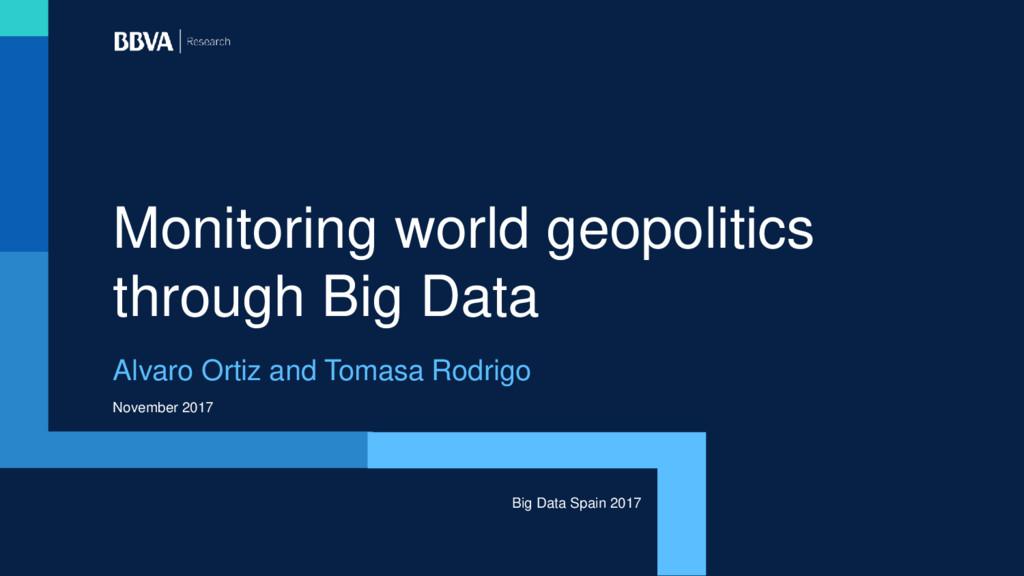 November 2017 Monitoring world geopolitics thro...