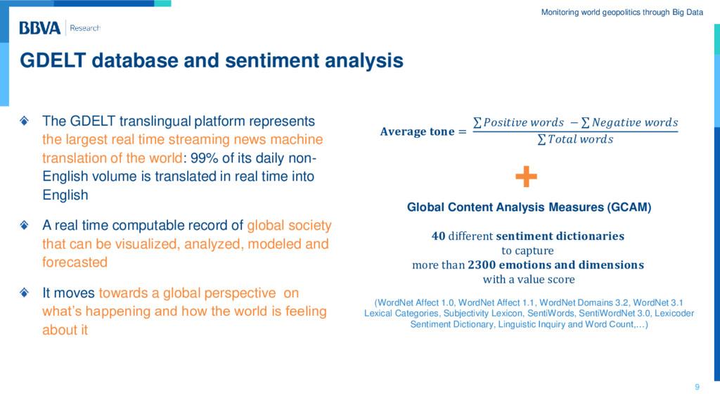 Monitoring world geopolitics through Big Data G...