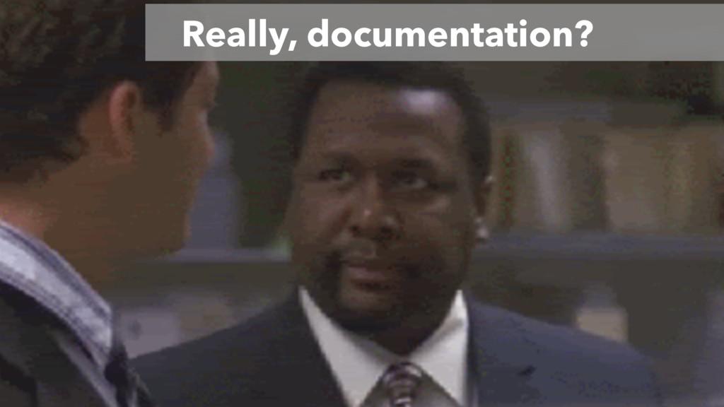Really, documentation?