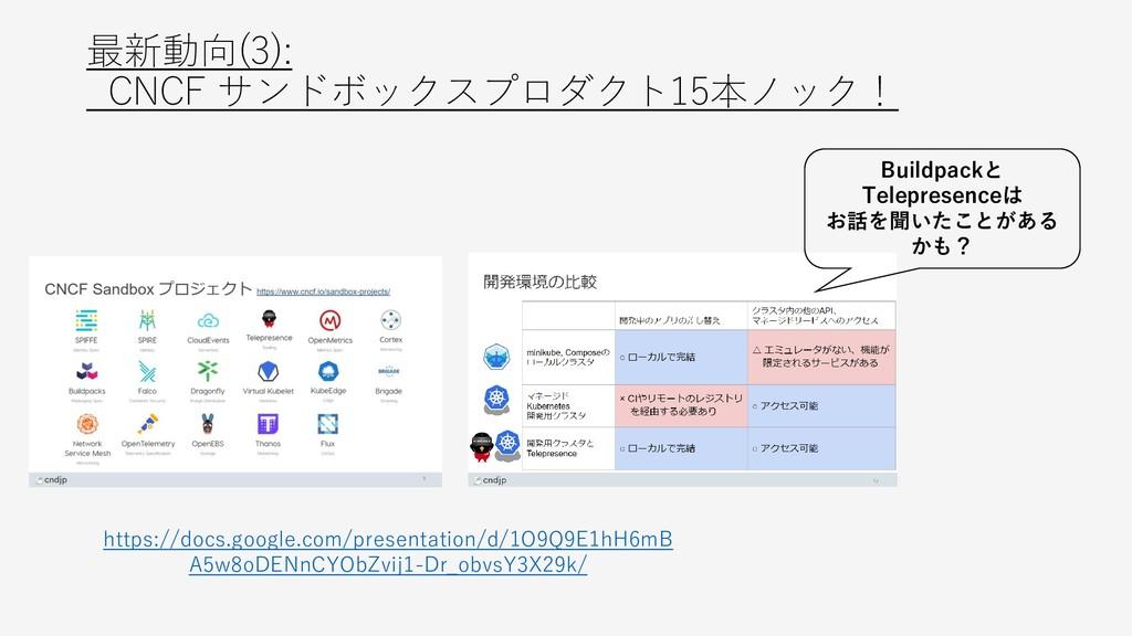 最新動向(3): CNCF サンドボックスプロダクト15本ノック! https://docs....