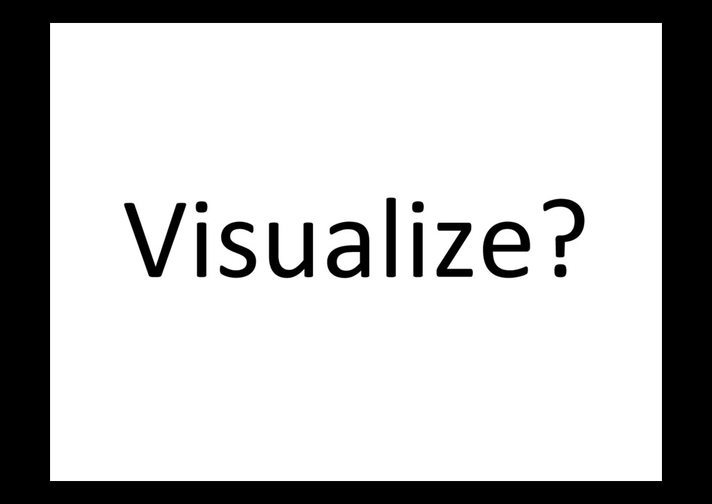 Visualize?