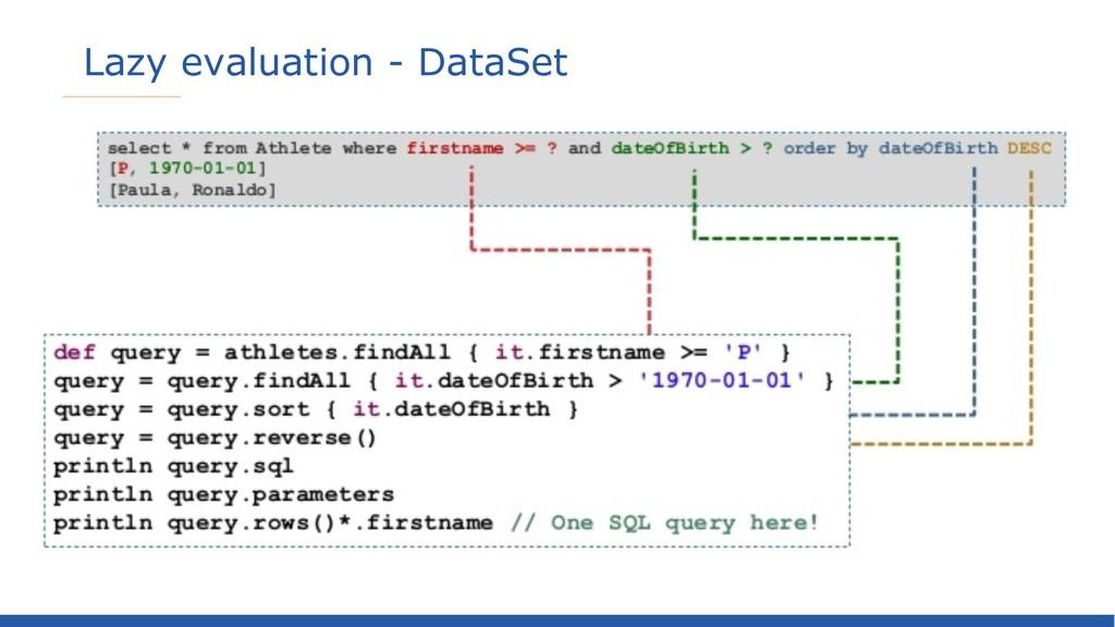 Lazy evaluation - DataSet